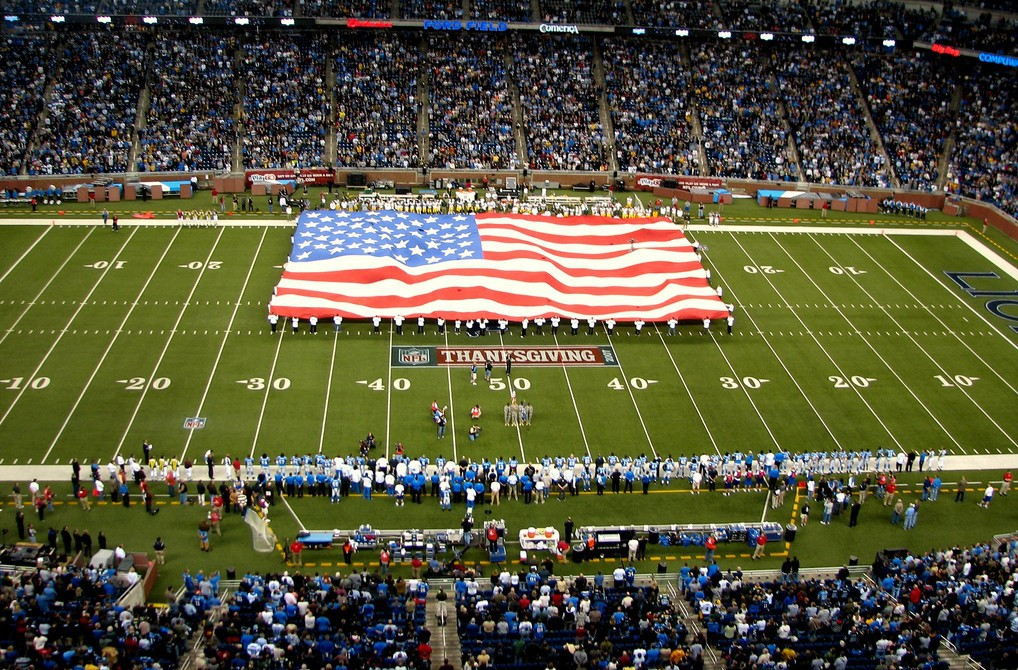 The Detroit Lions (above) and Dallas Cowboys are two Thanksgiving Day staples in the NFL.   © Flickr/Dave Hogg