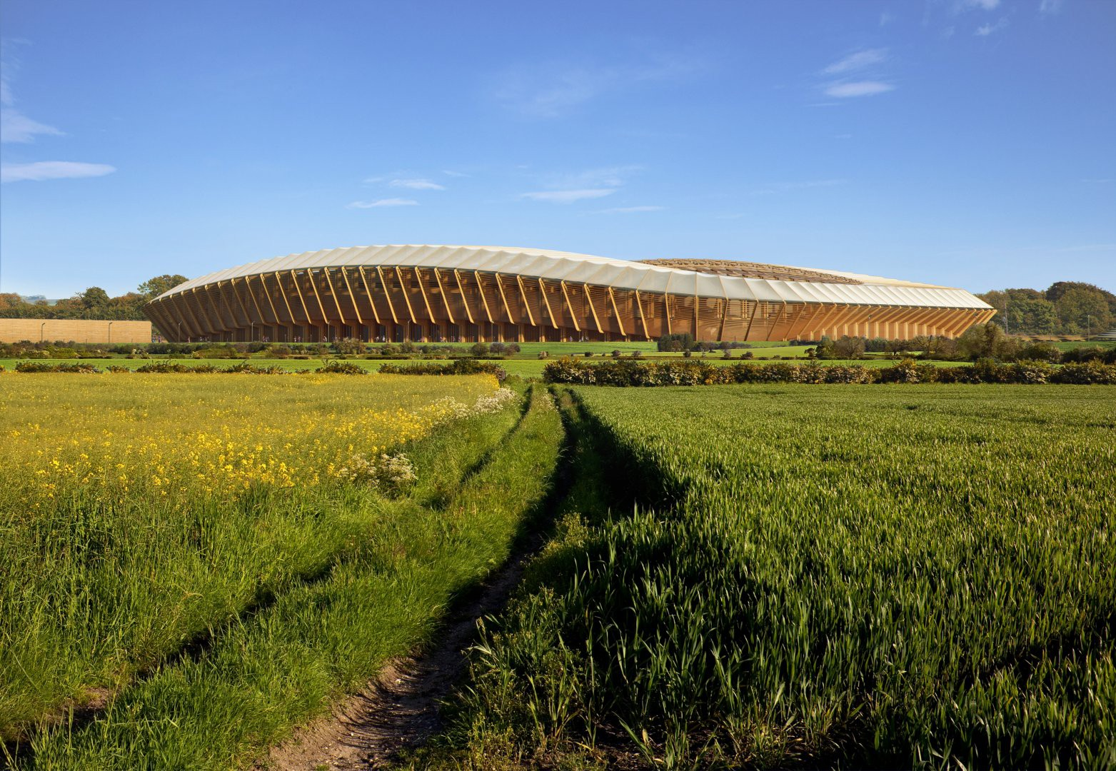 Forest Green's proposed new stadium | © Zaha Hadid Architects