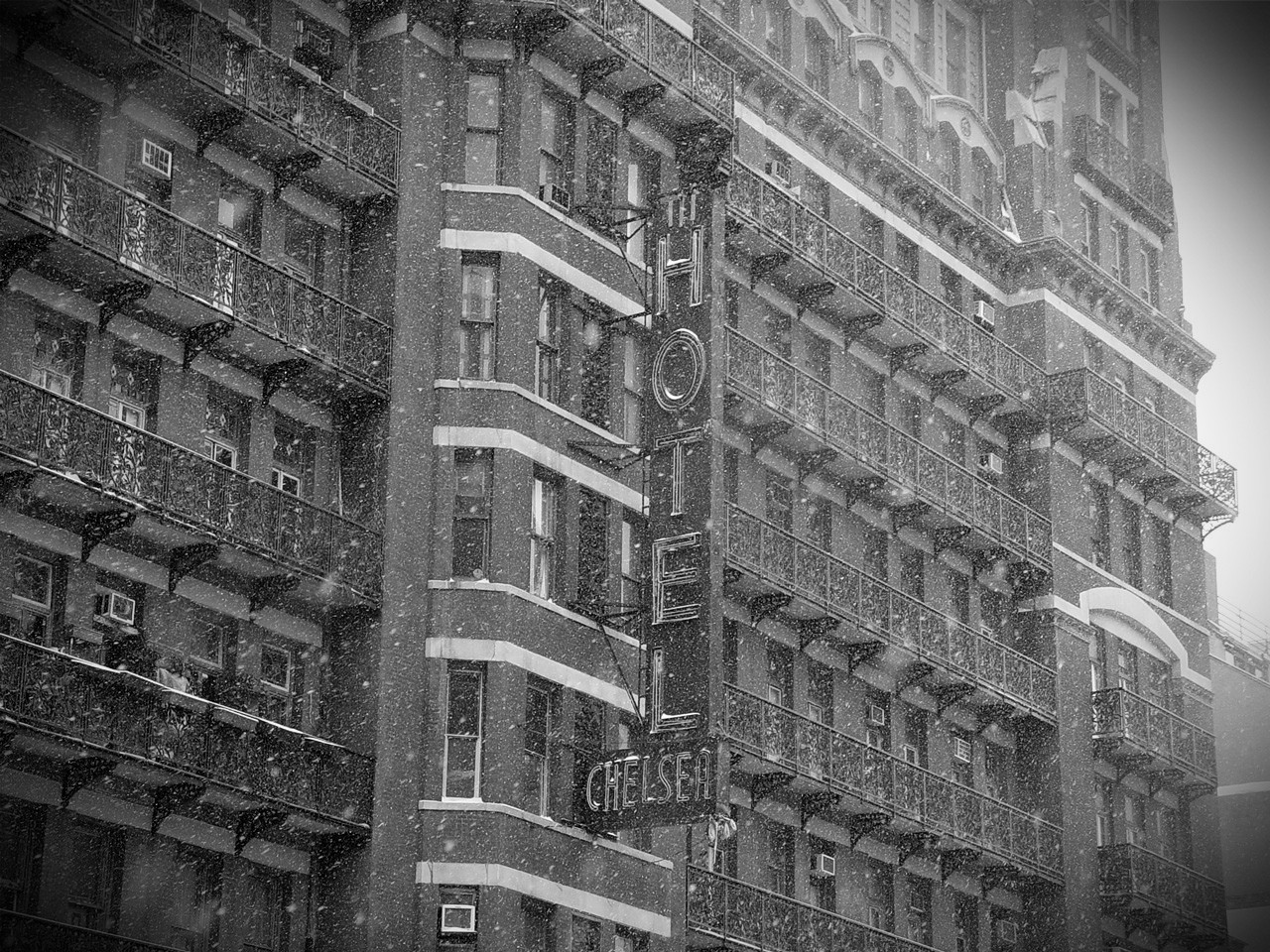 """Chelsea Hotel in Snow"" 