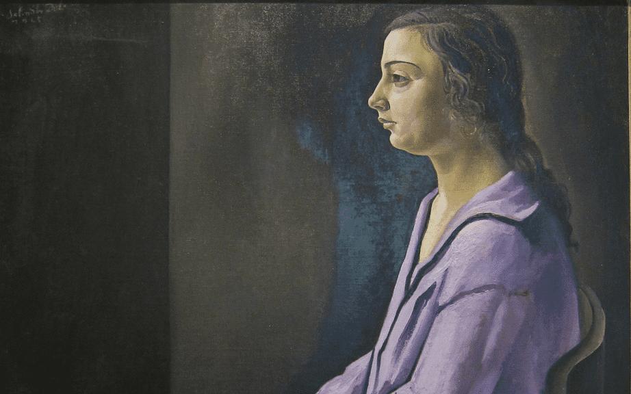 Salvador Dali, Portrait of his Sister (Ana Maria), 1925. Courtesy of Shannon Mollerus/Flickr
