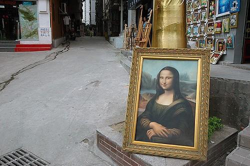 Da Vinci replica in Dafen (c) Michael Mandiberg / Flickr
