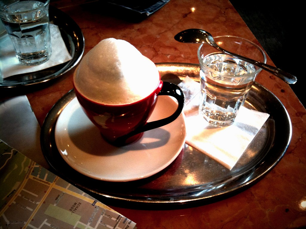 Cappuccino at Cafe Mozart, Vienna