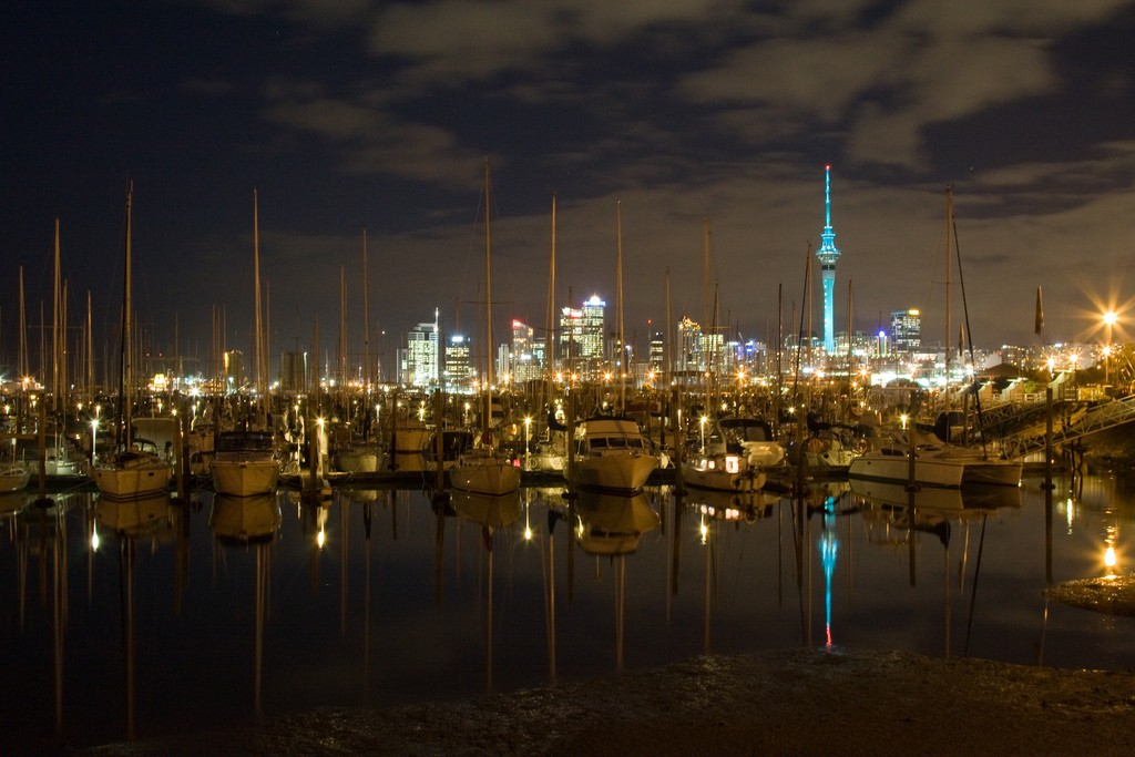 Auckland City Skyline from Westhaven Marina
