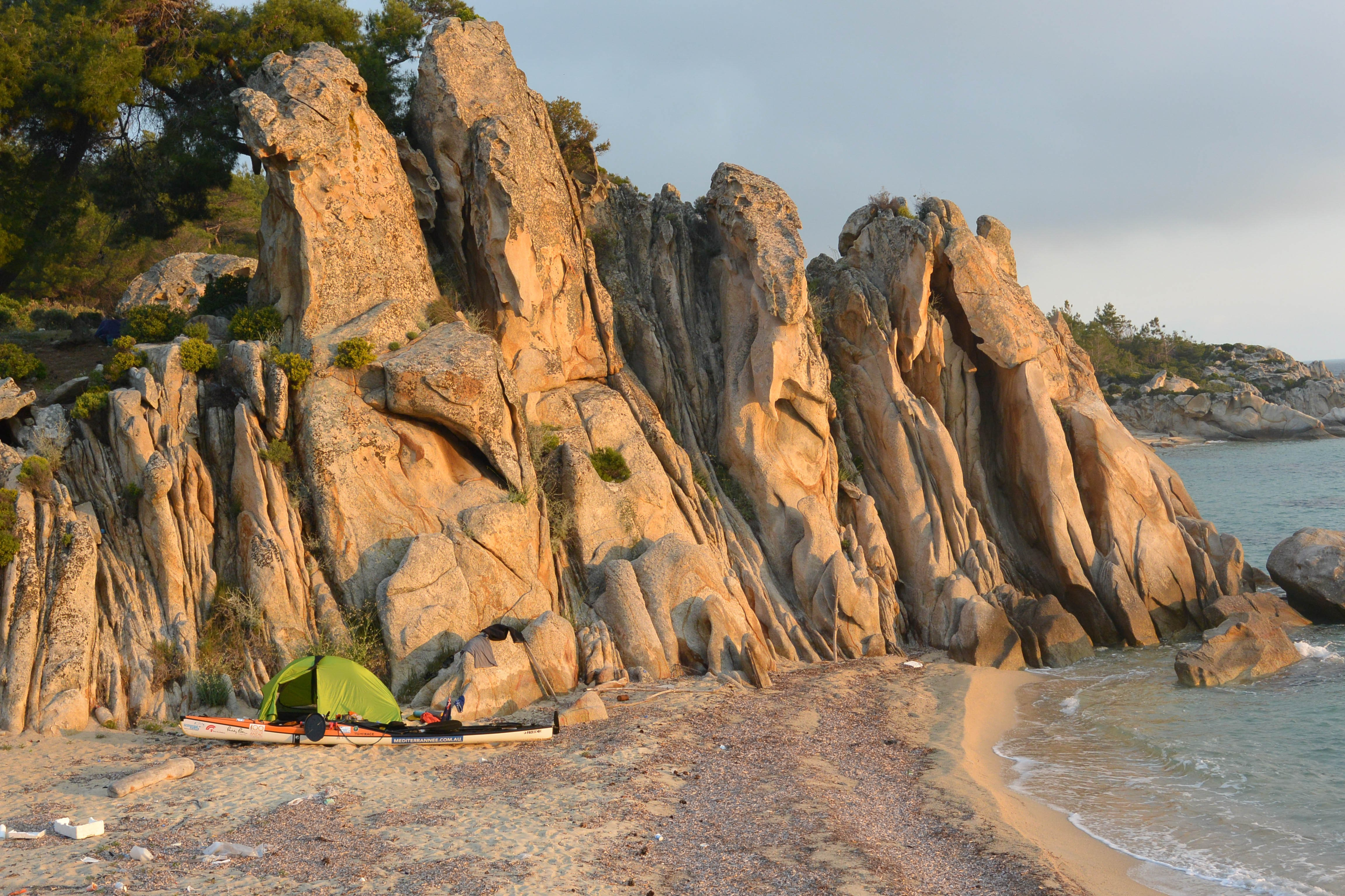 Camp on Sithonia Peninsula   © Huw Kingston