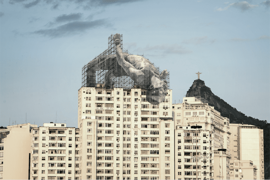 View of JR's Giants in Rio de Janeiro for the 2016 Olympic Games © JR-ART.NET