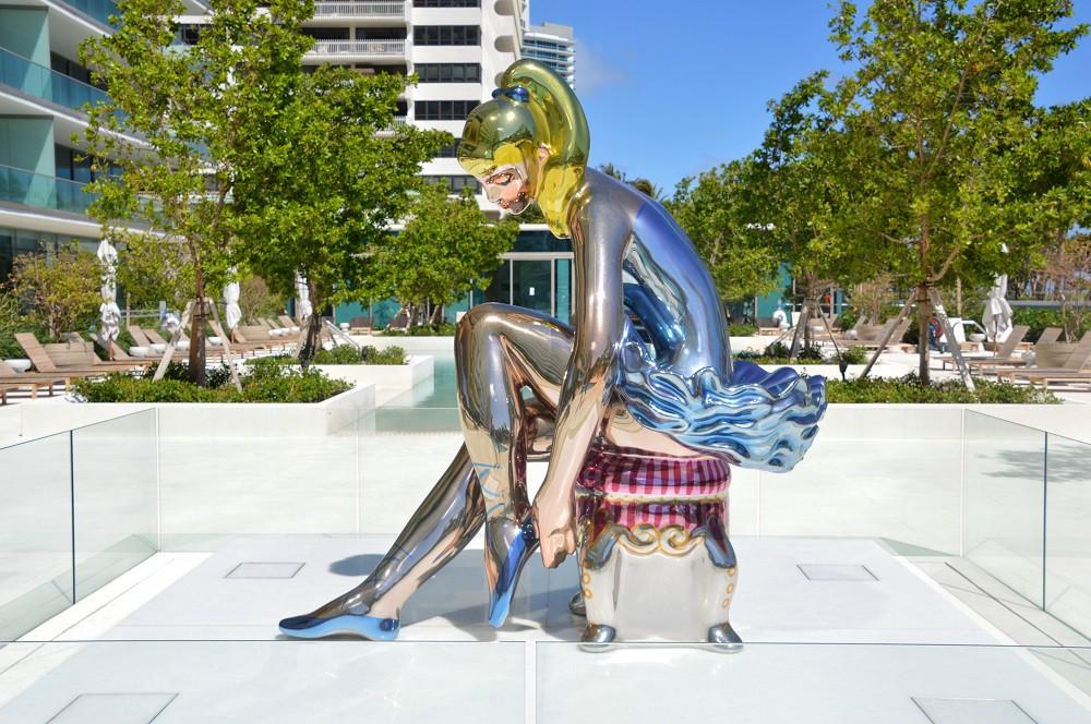 """Seated Ballerina"" by Jeff Koons; Photo Credit | ©Lisa Morales"