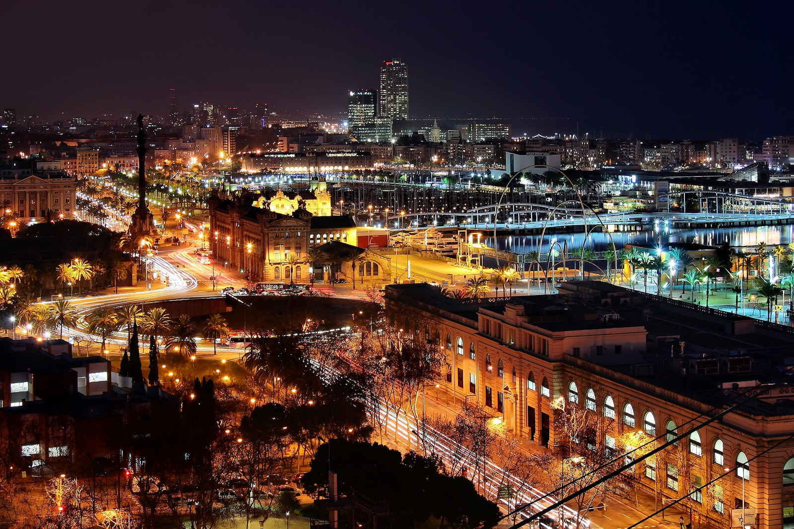 Image result for barcelona at night""
