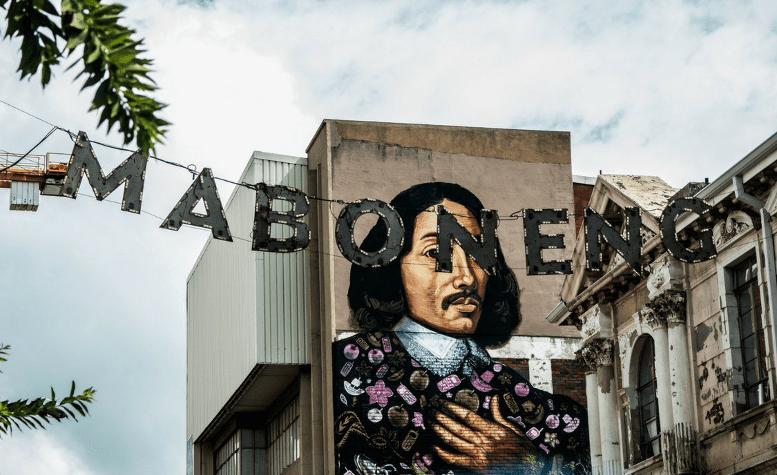 The Jan van Riebeeck mural is one of the most famous works of street art in Maboneng   ©Mathurin Le Goff/Flickr