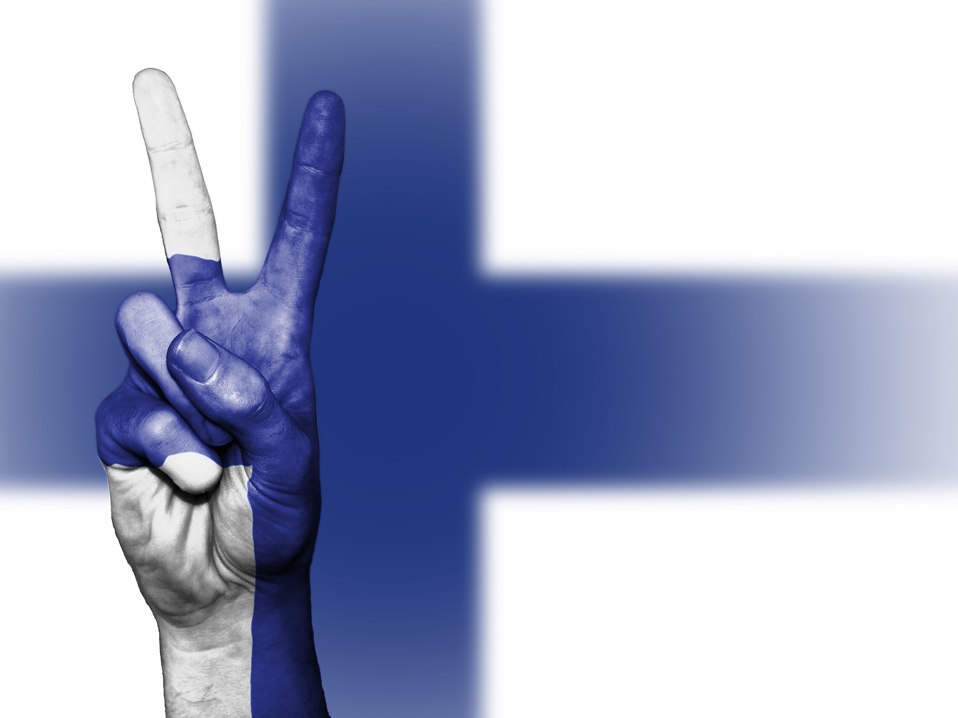 "<a href = ""https://pixabay.com/en/finland-peace-hand-nation-2131192/""> Finland 