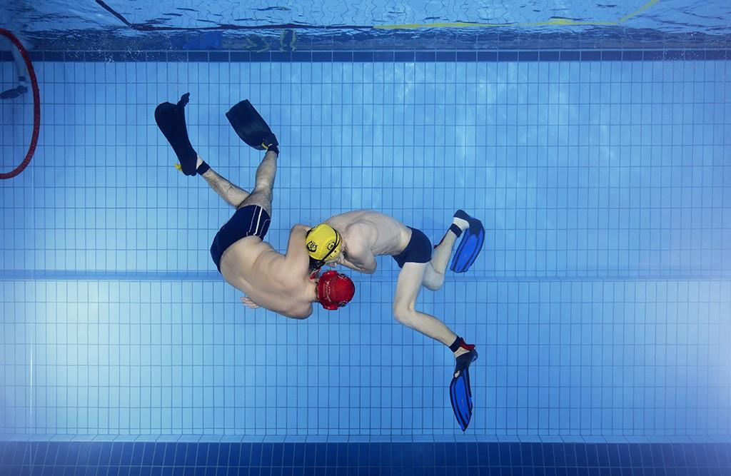 Image result for aquathlon Underwater Wrestling