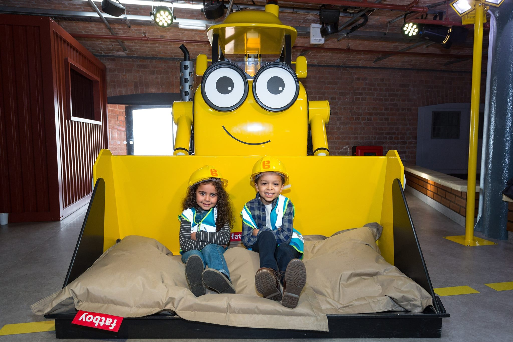 Children on a digger | © Mattel Play Liverpool/Facebook