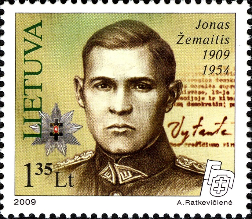 Jonas Zemaitis-Vytautas stamp | © Wikimedia