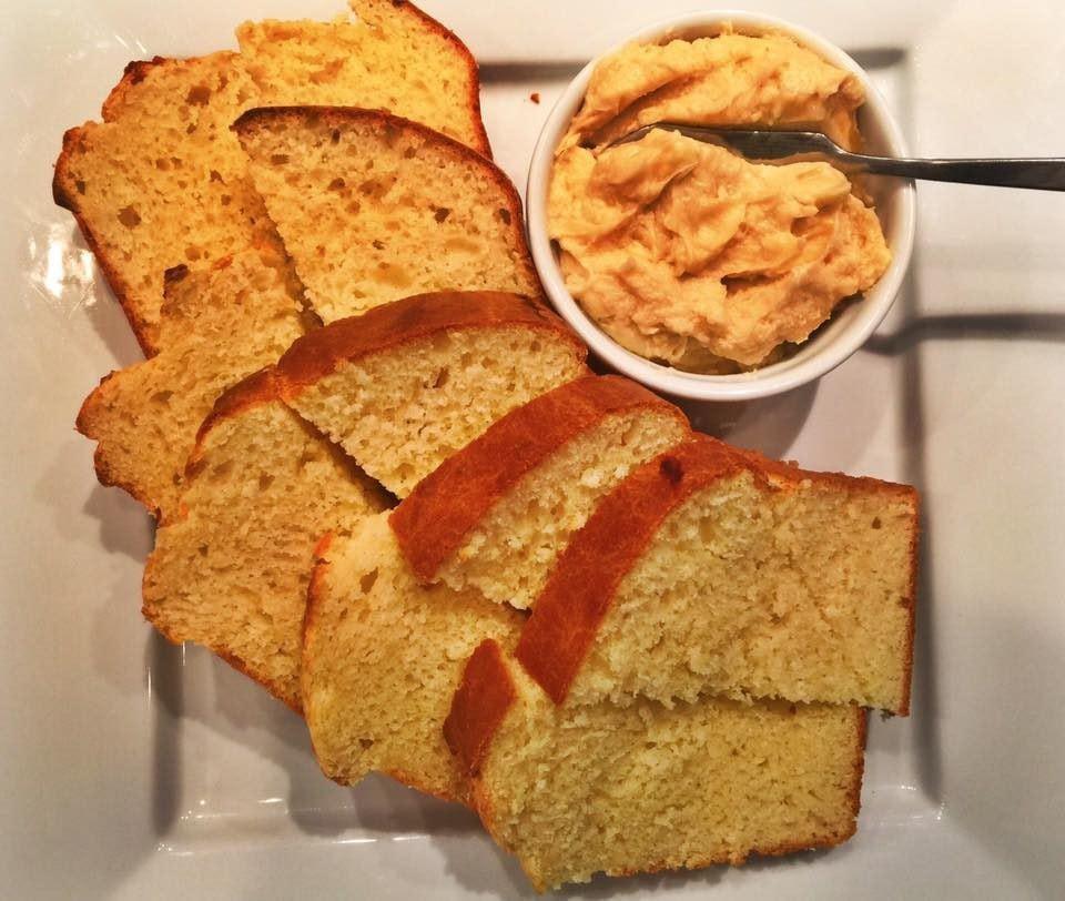 Sally Lunn Sweet Bread with homemade honey butter