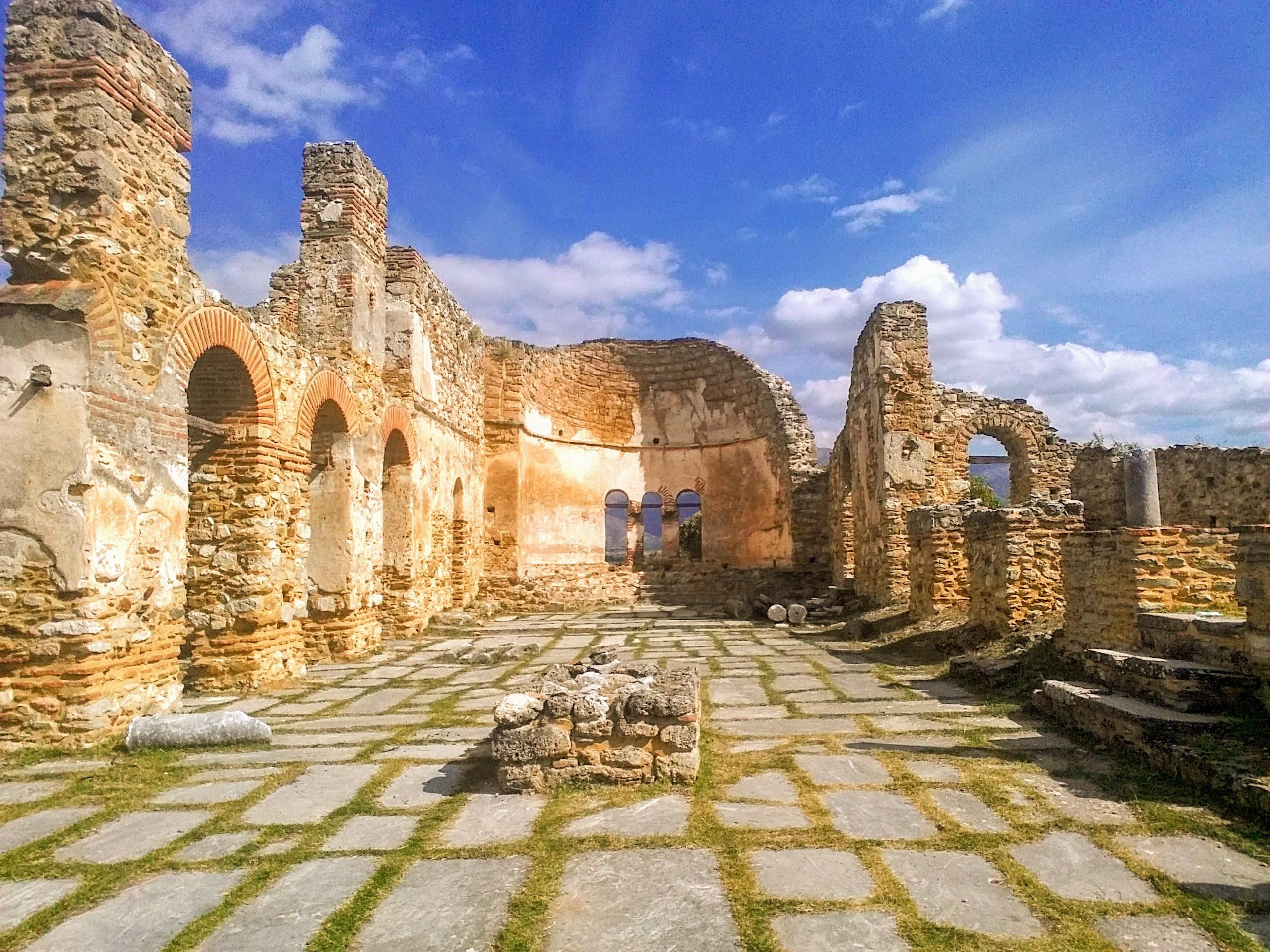 Church of Agios Achillios, Agios Achillios island, Prespa Lakes, Greece   © Ethel Dilouambaka