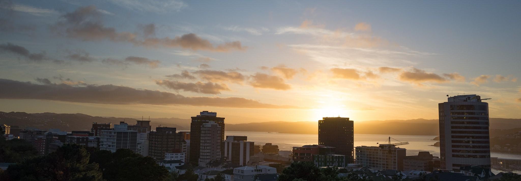 Sunrise in Wellington