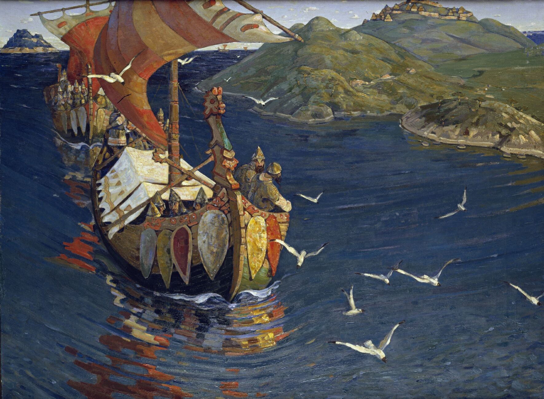 'Guests from Overseas' (1901) by Nicholas Roerich