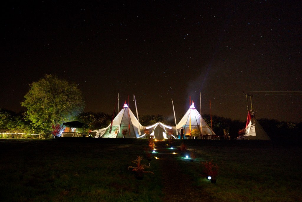 Giant Tipi | ©Welsh Green Weddings