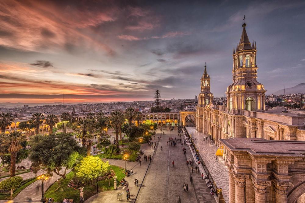 Sunset in Arequipa, Peru