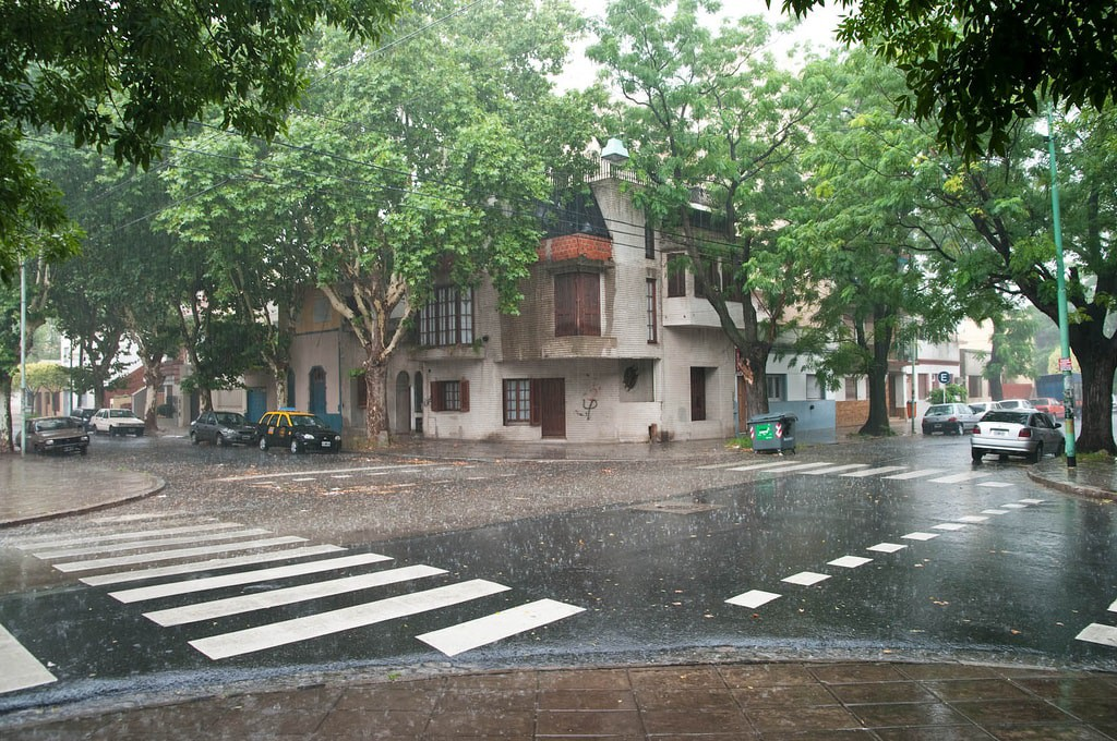 A downpour in Buenos Aires
