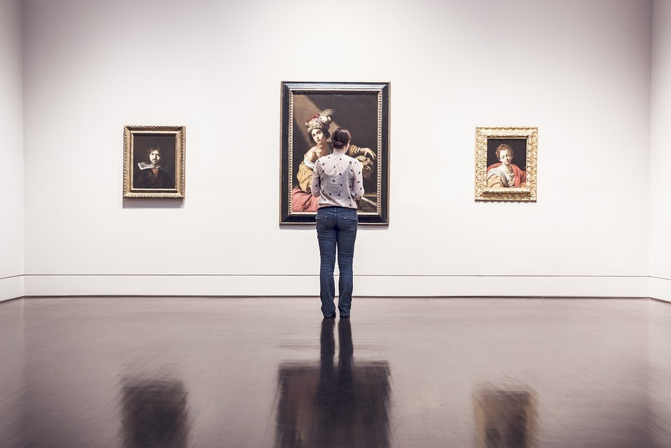 A woman looking at art | ©RyanMcGuire / Pixabay