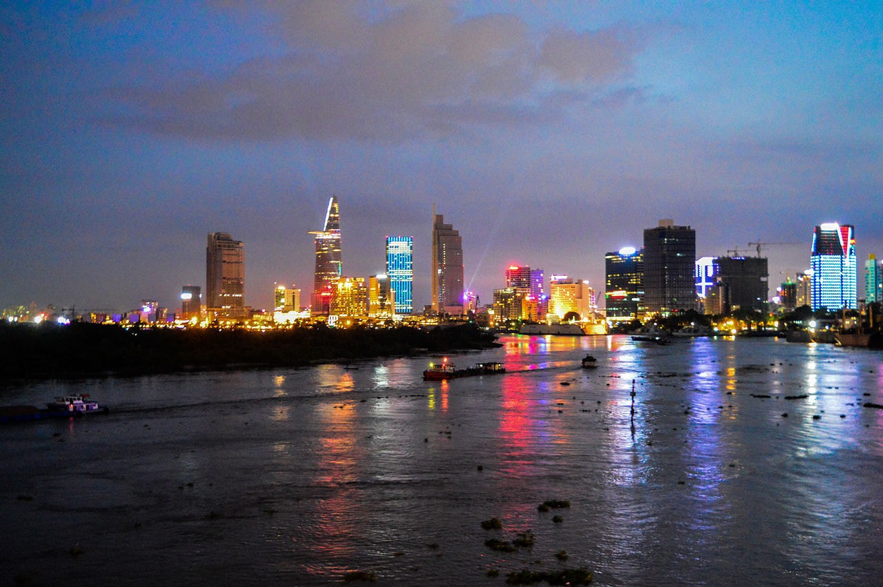 Saigon at night from the river | © John Gremory / WikiCommons