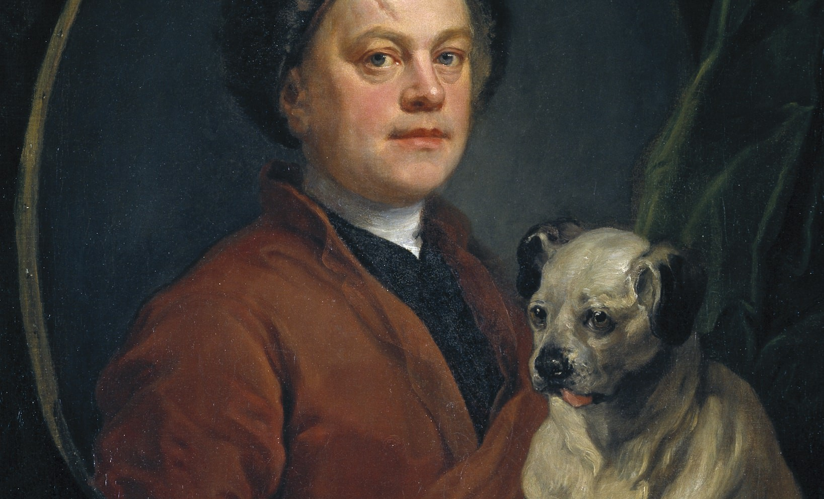 Detail of William Hogarth, The Painter and His Pug, 1745 | © Tate