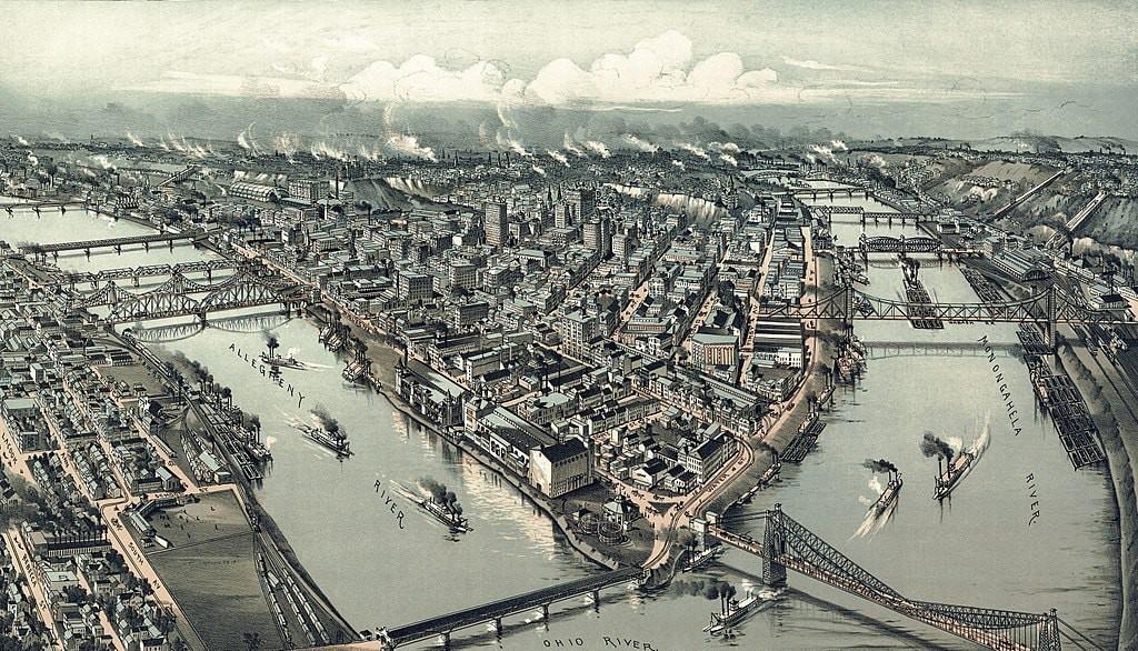 Pittsburgh, 1902 | © Thaddeus Mortimer Fowler (1842-1922) / WikiCommons
