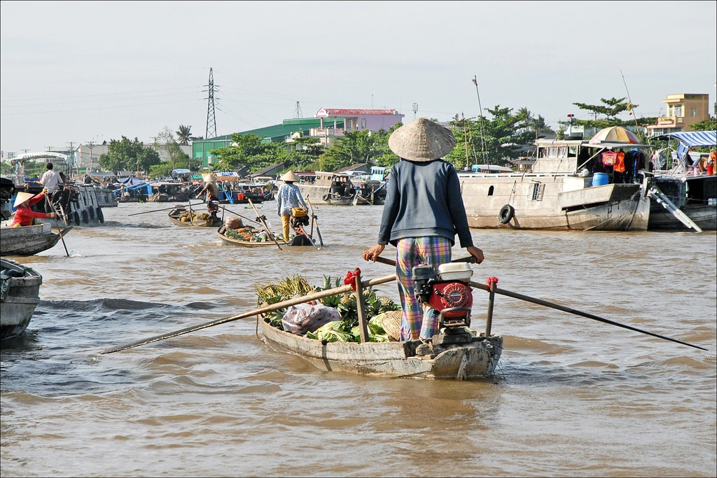 Floating market   © Jean-Pierre Dalbera/Flickr