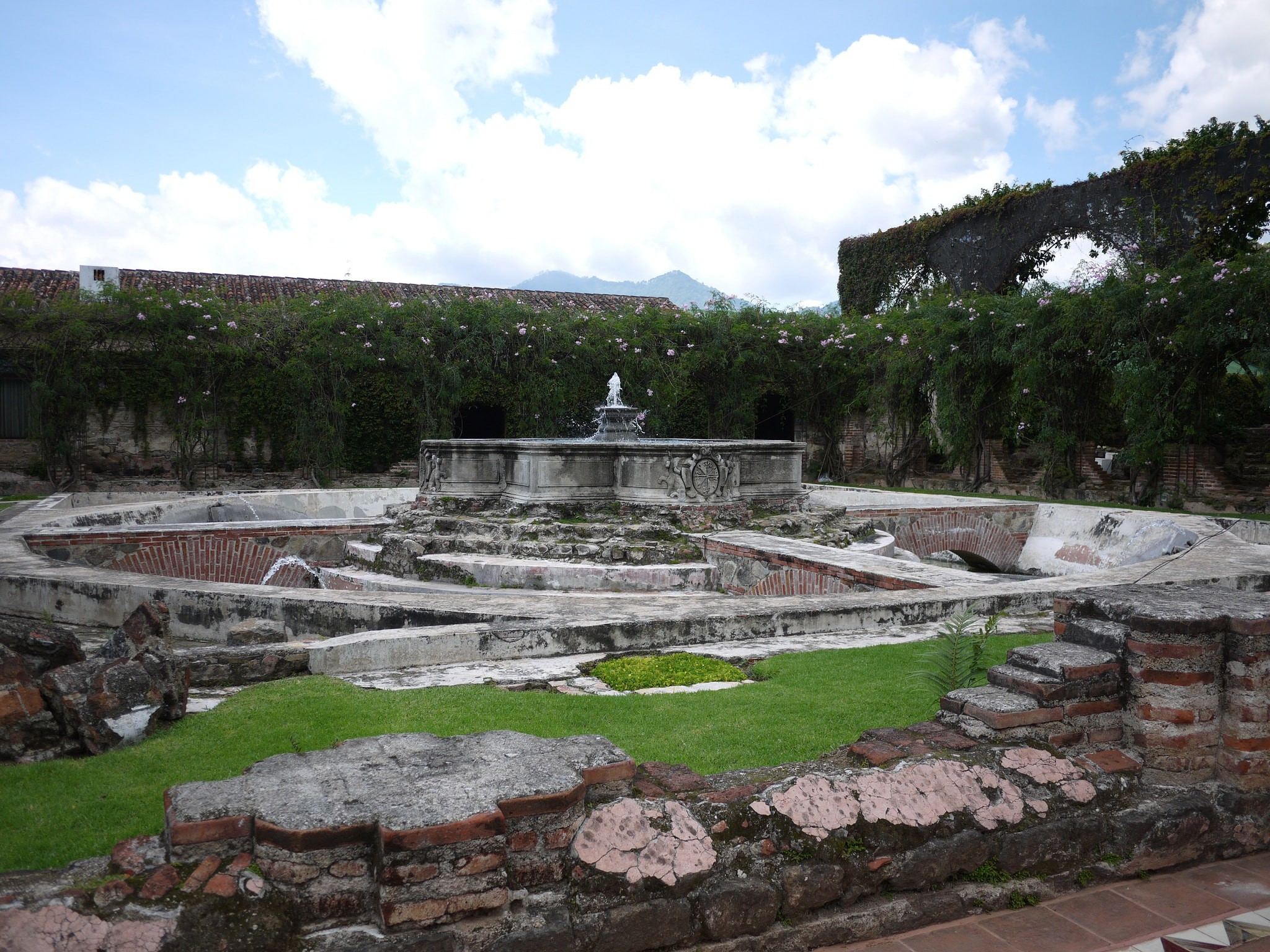 Ruins in the grounds of Hotel Santo Domingo, Antigua, Guatemala