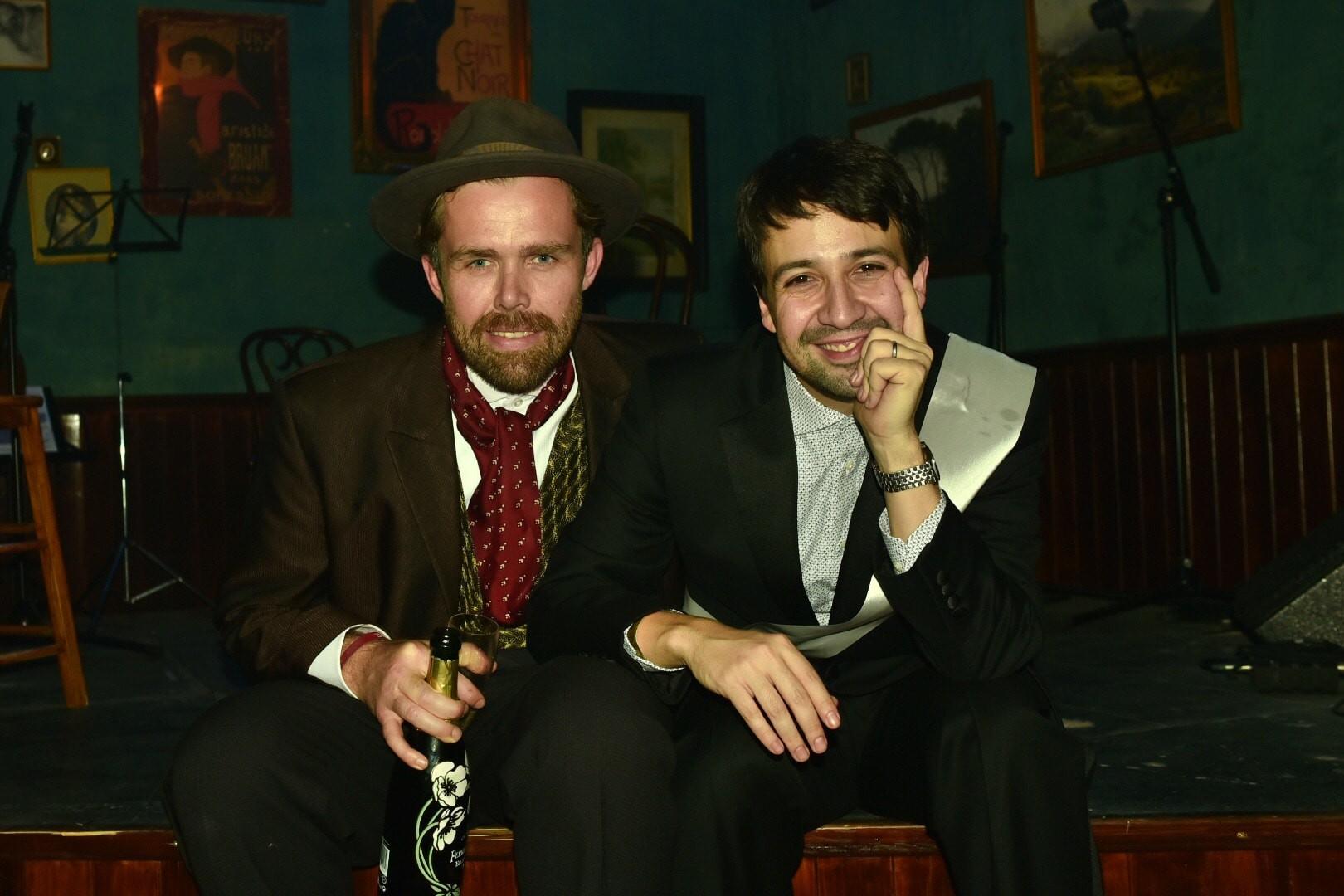 Fabien Riggall and Lin-Manuel Miranda