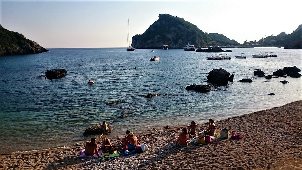 Waiting for the sunset at Palaiokastritsa, Corfu