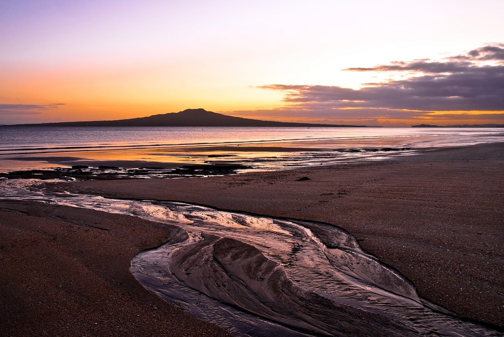 View of Rangitoto Island from Takapuna Beach
