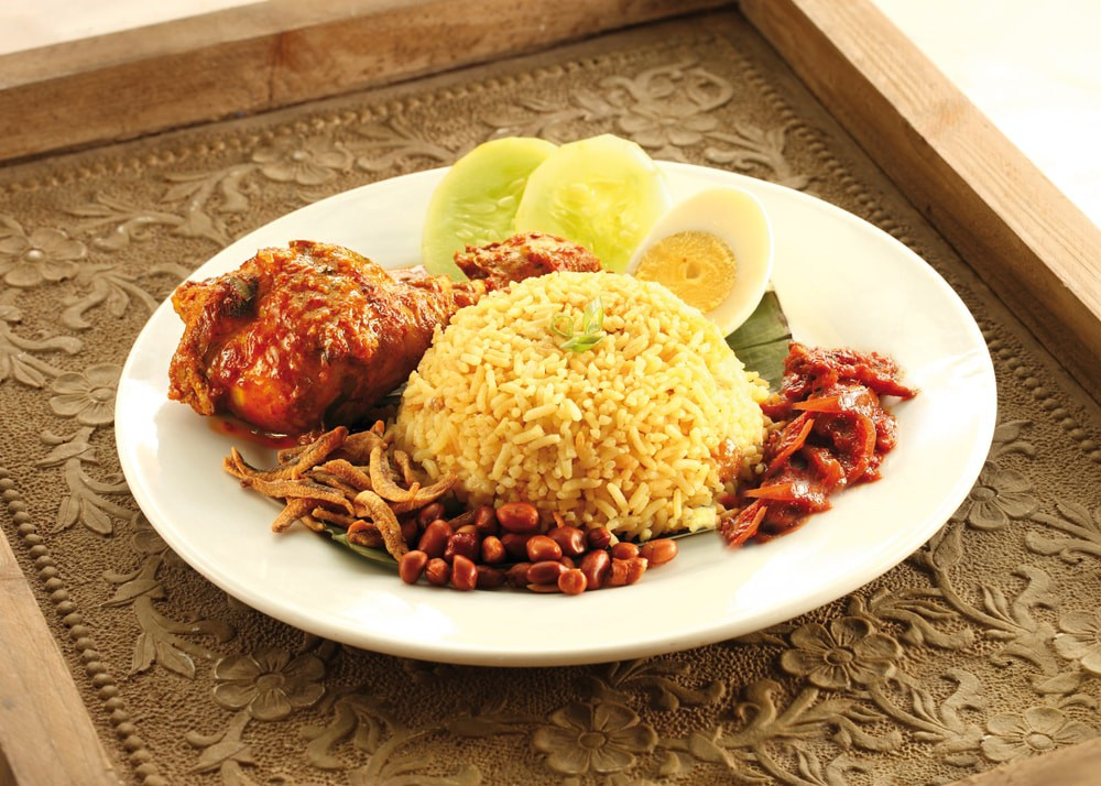 Nasi briyani rendang chicken