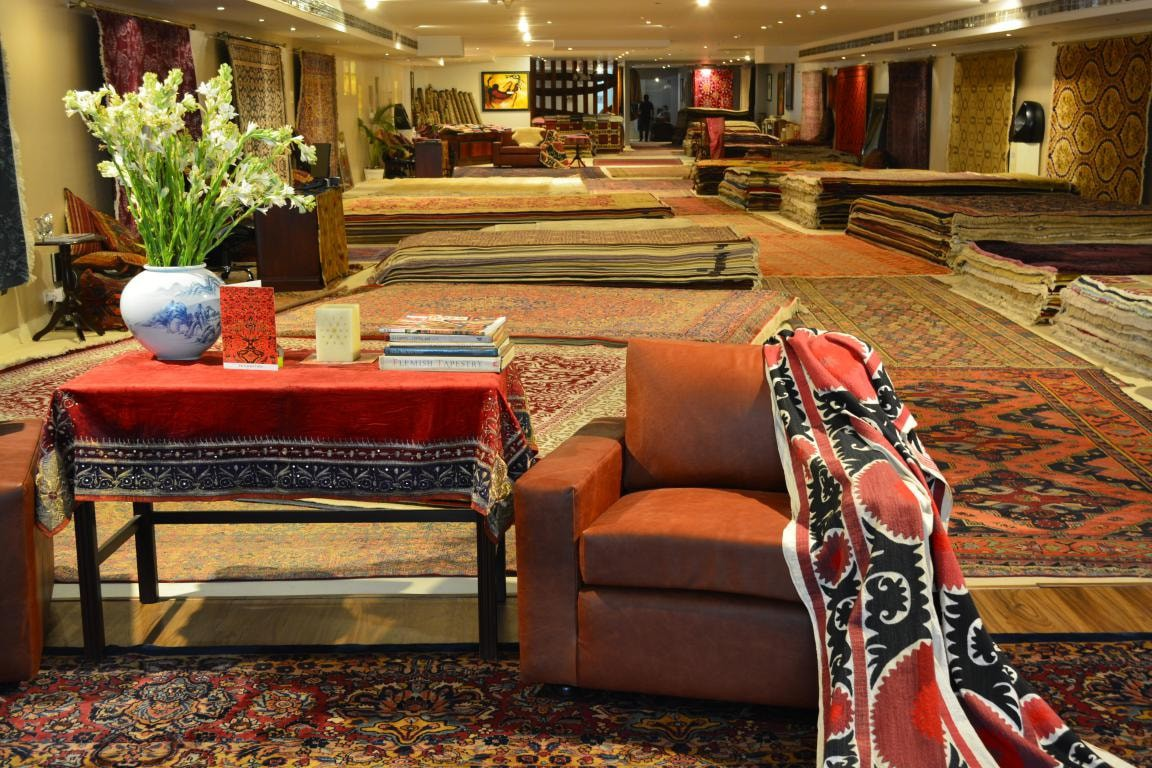 The Carpet Cellar in Delhi has antique carpets dating back to the 16th and 17th centuries
