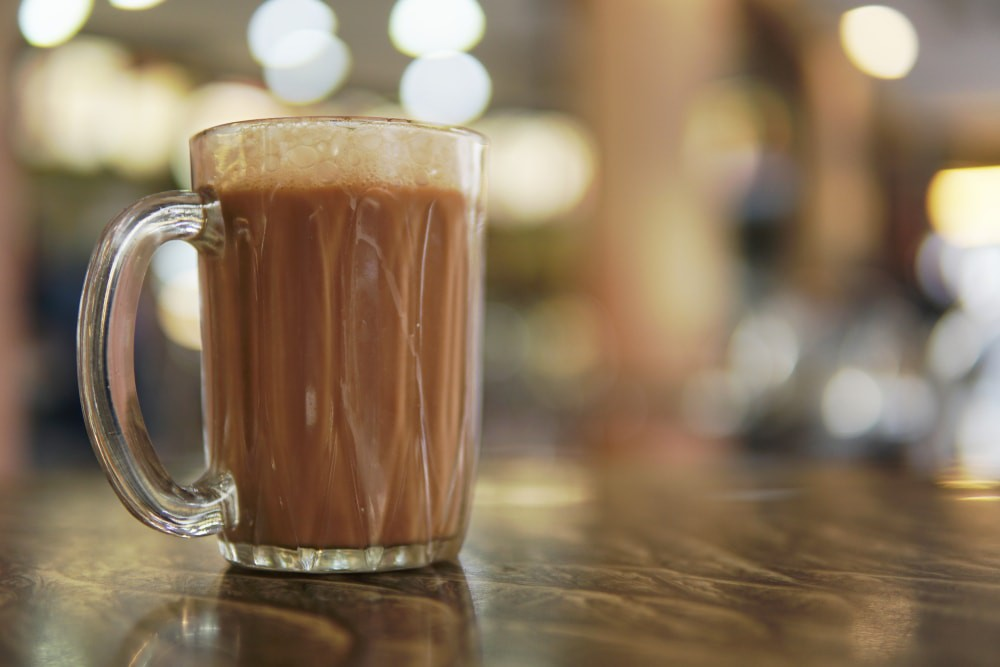 Famous drink in Malaysia known as Teh Tarik