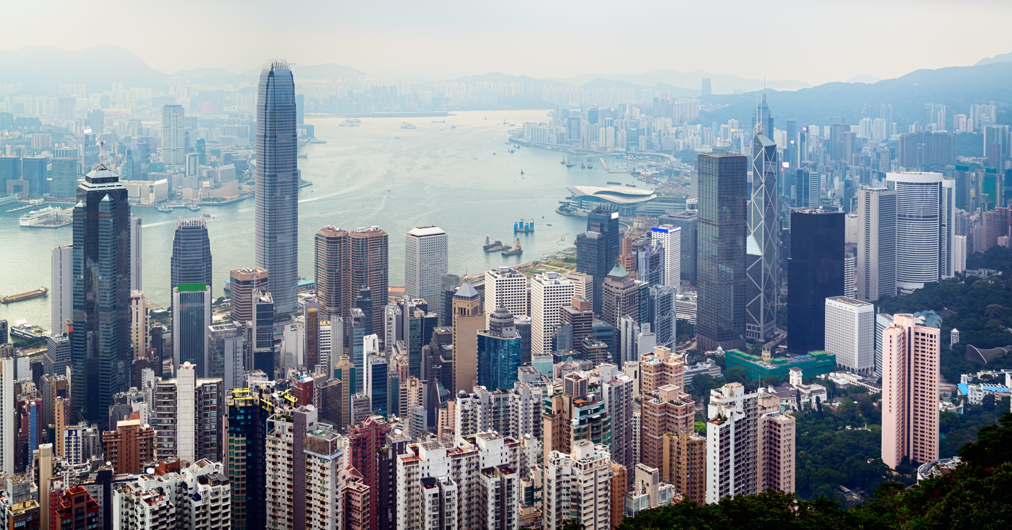 There are a number of skyscrapers and high-rise buildings in Hong Kong