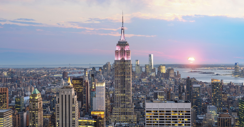 New York City Skyline with Empire State Building, New York, USA.