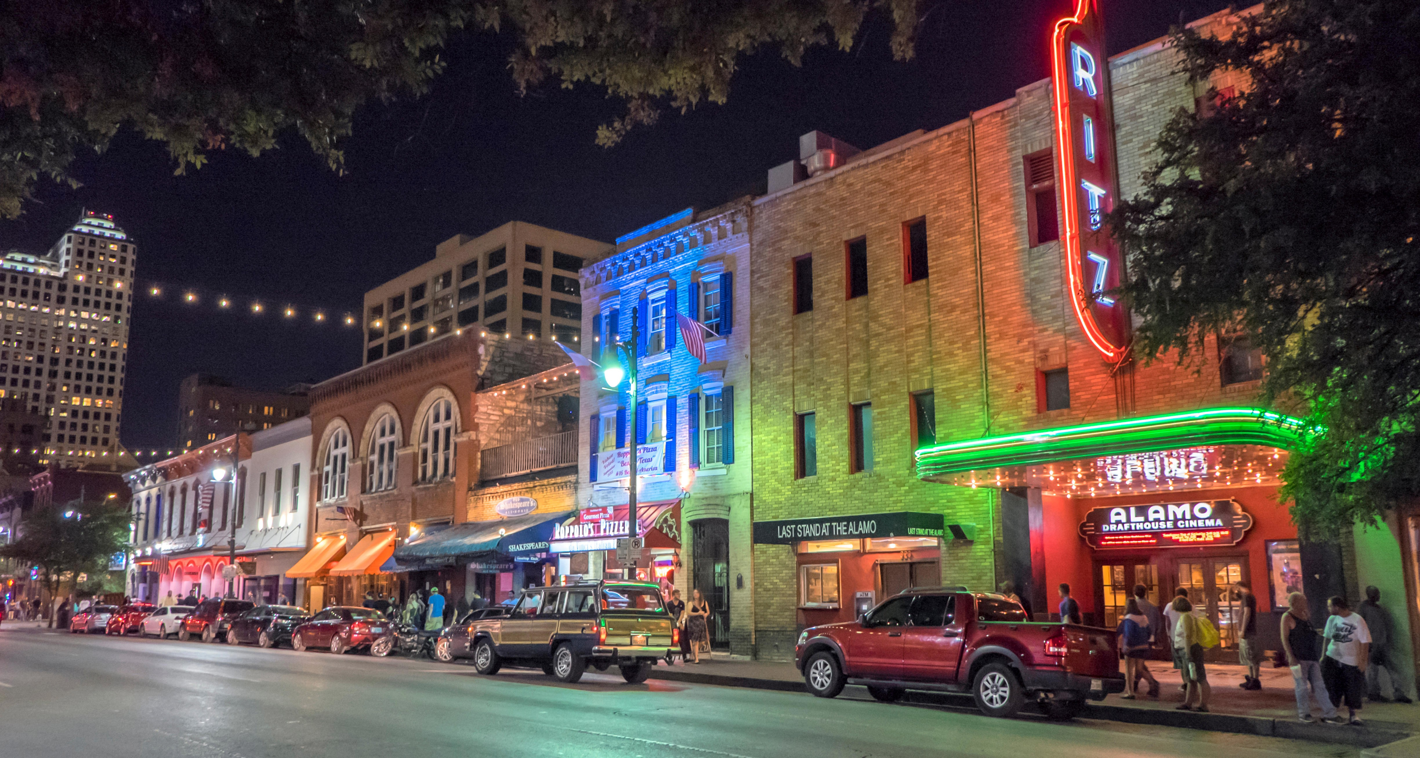 Austin's 6th Street is the center of the city's nightlife