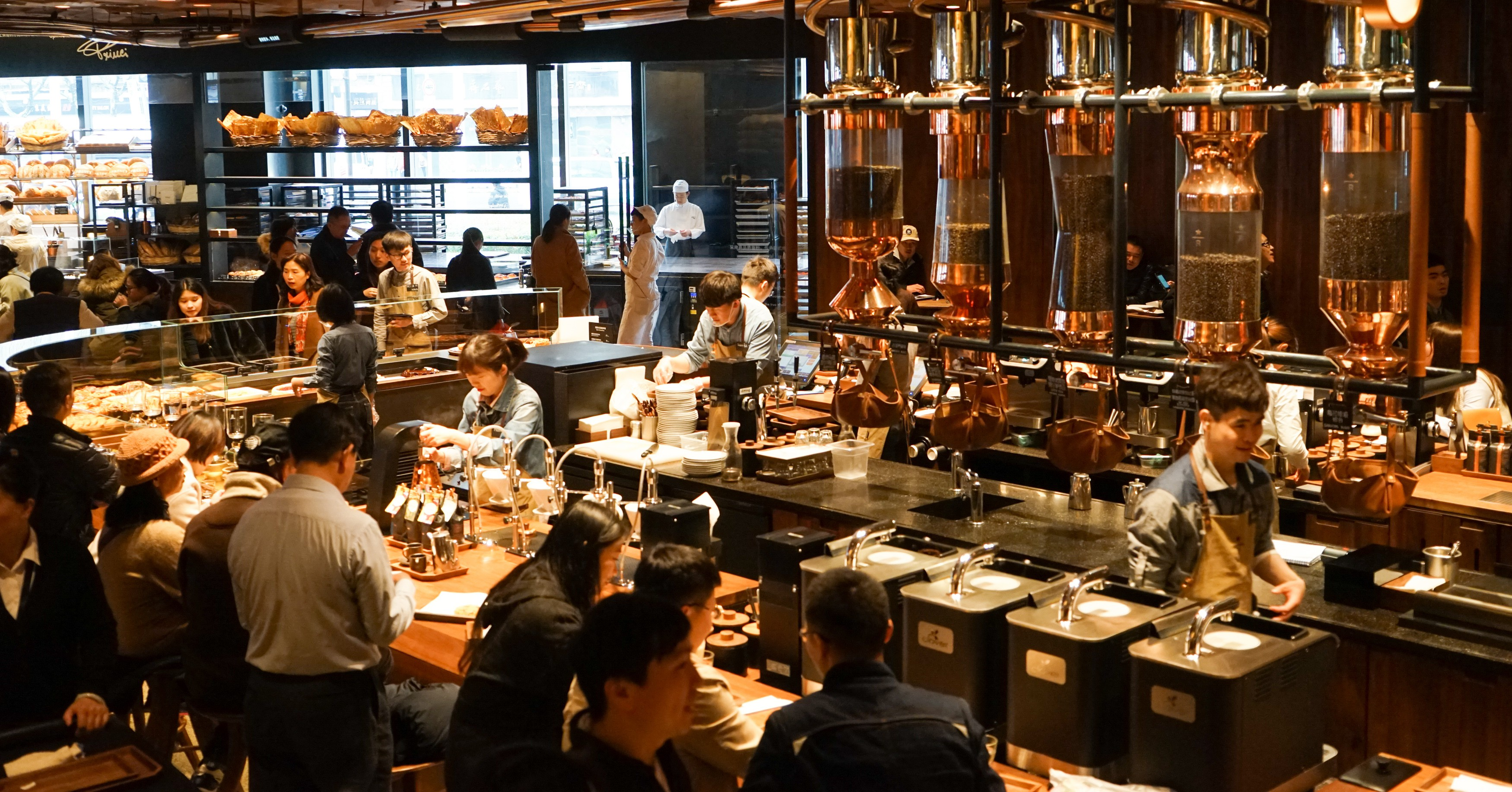 Shanghai is home to the largest Starbucks in the world