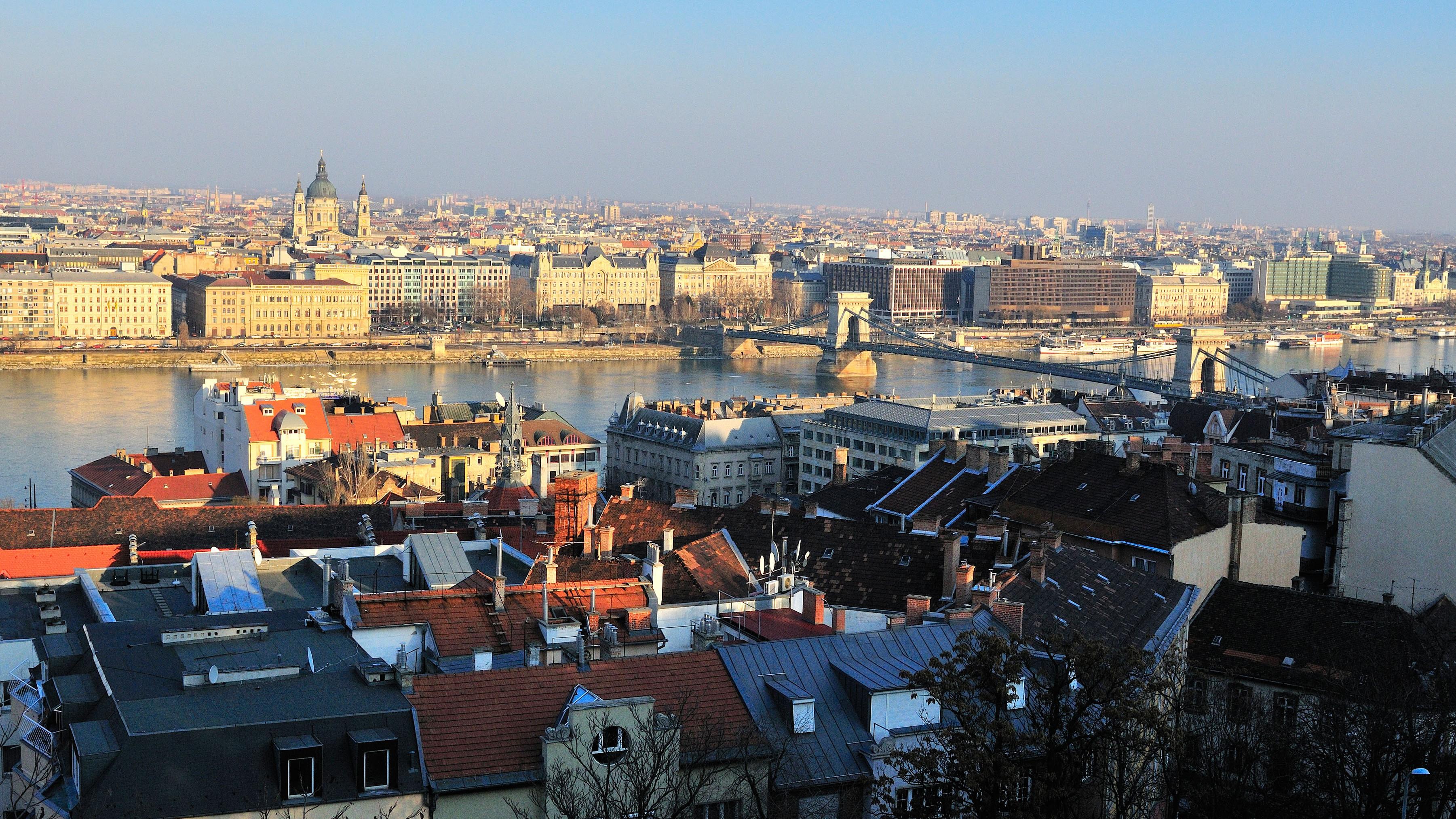 Budapest straddles the Danube River